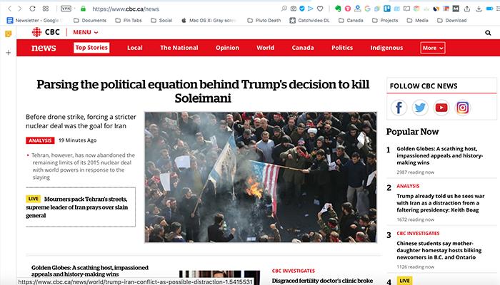 رادیو سیبیسی؛ تحلیل تنشهای اخیر میان ایران و آمریکا