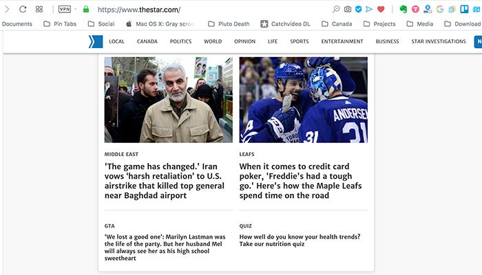 تورنتو استار؛ بازی عوض شد