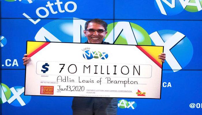 خوشبختترین آدم کانادا این هفته برنده جایزه ۷۰ میلیون دلاری لاتاری شد