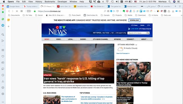 سیتیوی نیوز؛ تهدید ایران به واکنش شدید