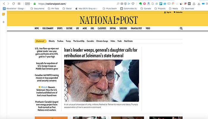 نشنال پست؛ تشییع جنازه در تهران و گریه رهبر