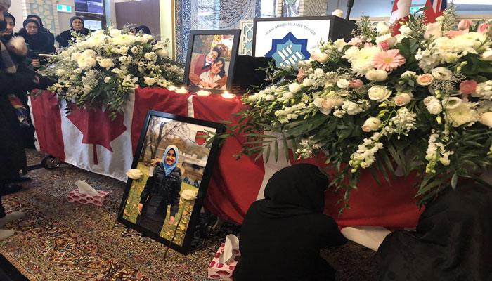 مادر و دختر قربانی پرواز اوکراینی در تورنتو به خاک سپرده شدند