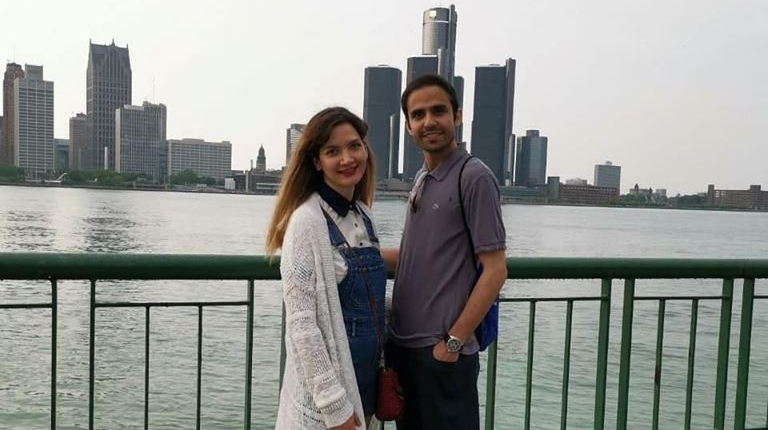 حمید ستاره کوکب، دستیار تحقیقاتی دانشگاه Windsor و همسرش سمیرا بشیری