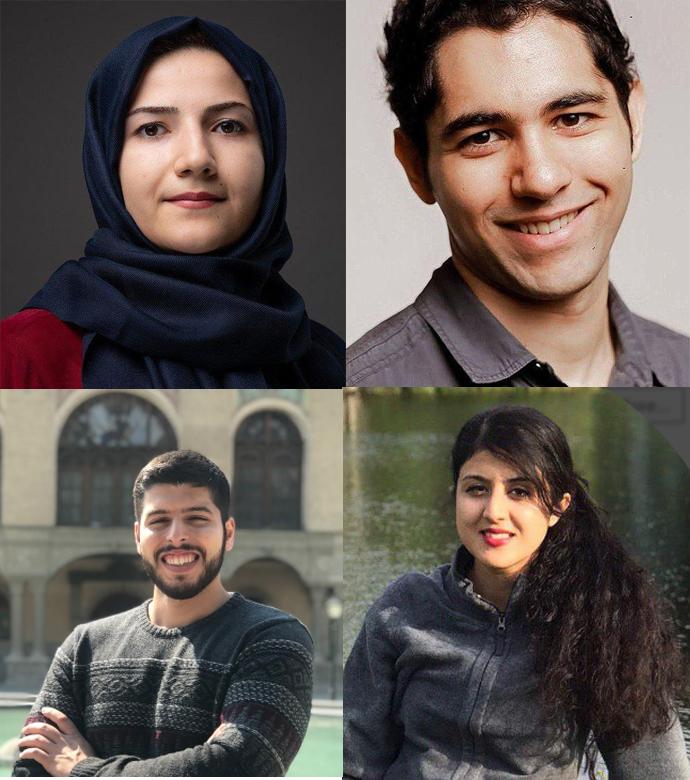 امیرحسین سعیدینیا، محمدمهدی الیاسی، الناز نبیعی و نسیم رحمانیفر دانشجویان دانشگاه آلبرتا