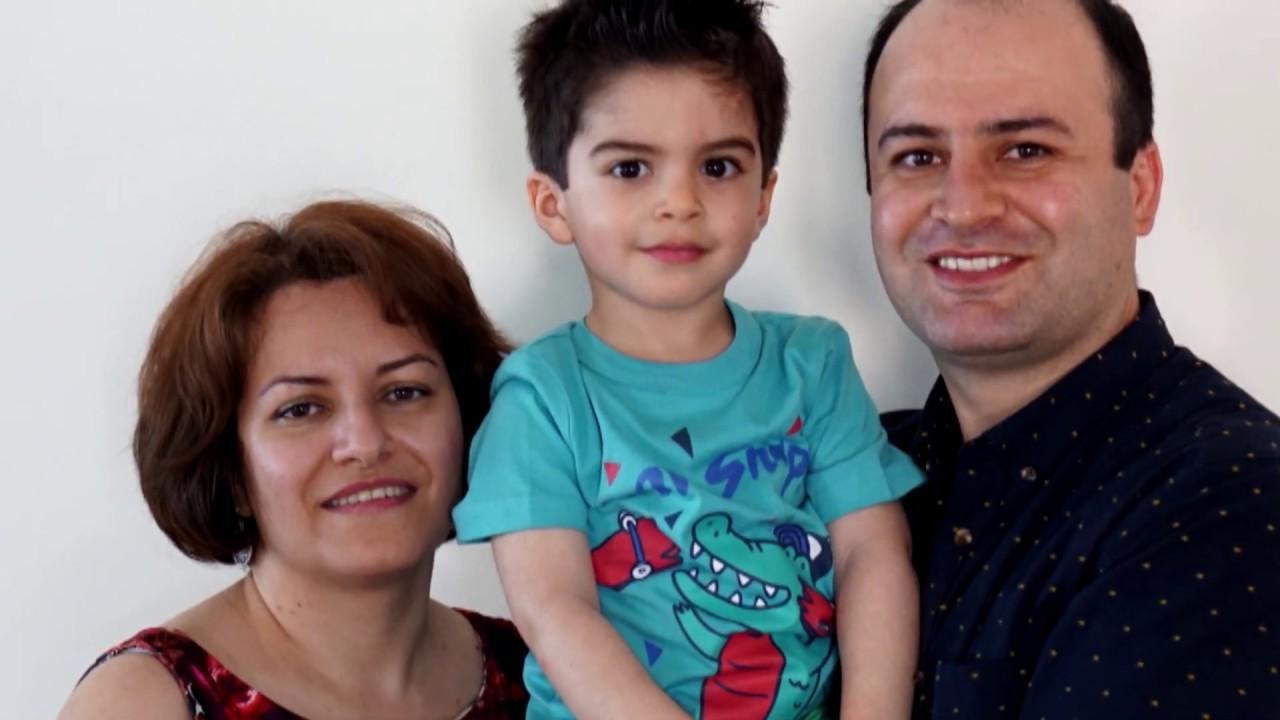 رازگر رحیمی، مدرس دانشگاه، همسر باردارش فریده غلامی و پسرش ژیوان