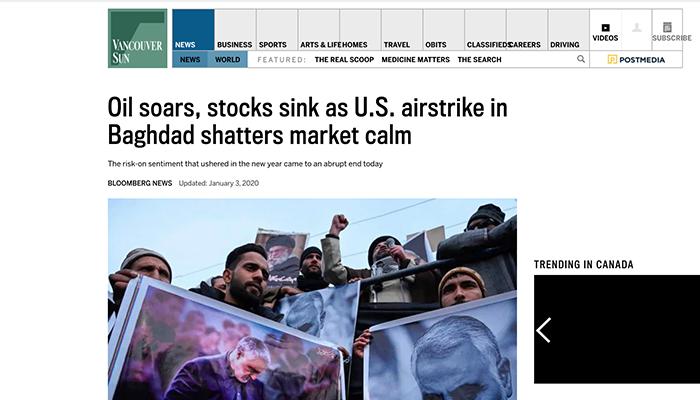ونکوور سان؛ تاثیرات حمله بر اقتصاد آمریکا