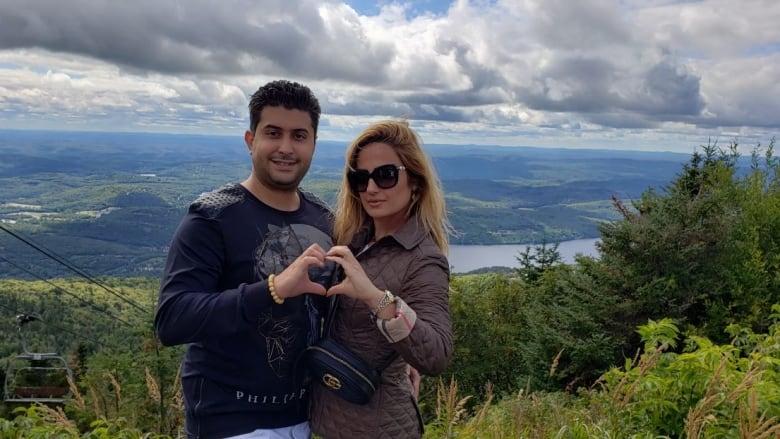 ایمان قادرپناه، کارگزار املاک ساکن تورنتو به همراه همسرش پریناز قادرپناه