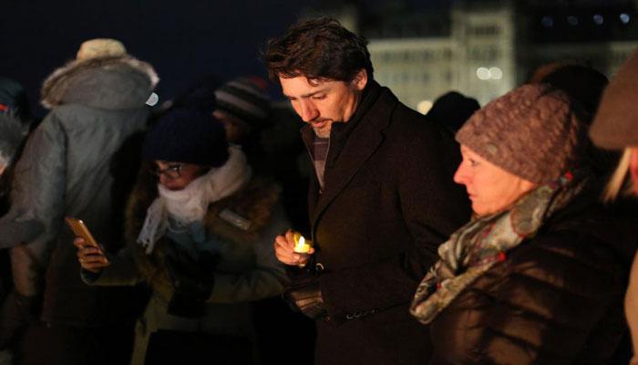 بزرگداشت جانباختگان سقوط در سرمای زیر صفر کانادا، ترودو هم بود