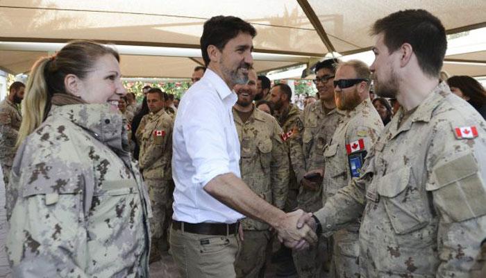 جاستین ترودو امروز برای دیدار با سربازان کانادائی به کویت رفت