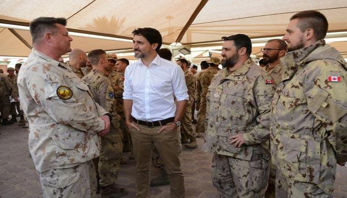 جاستین ترودو خطاب به نظامیان کانادایی در کویت: حضور کانادا باید در خاورمیانه ادامه یابد