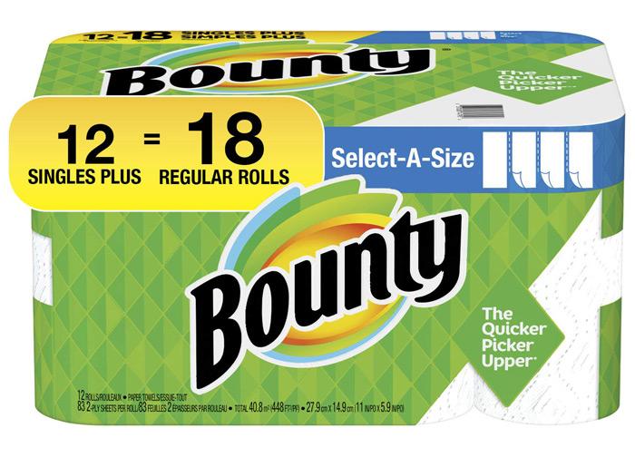 خرید جذاب هفته - حوله کاغذی Bounty Select A Size