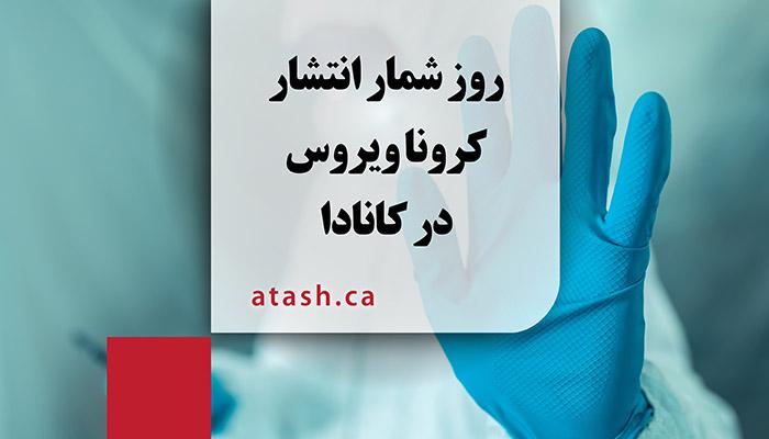 روز شمار انتشار کرونا ویروس در کانادا