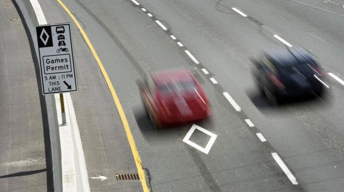 شرایط استفاده از خط ویژه خودروهای چند سرنشین (HOV)