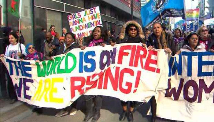 راهپیمایی هزاران نفر در تورنتو برای یادبود روز جهانی زن