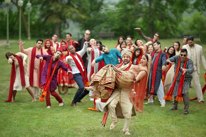 جشن عروسی دکتر Seema Marwaha و همسرش Rishi Sahel به شیوه کاملا سنتی هندوستان