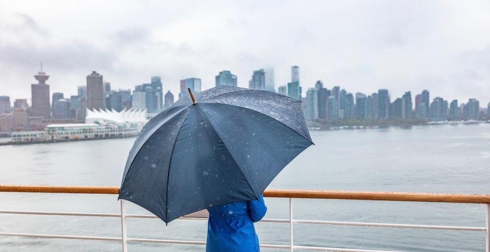 پیشبینی هفته بارانی در ونکوور