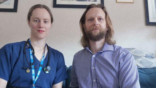 Matthew Campbell-Hill و همسرش، Lydia
