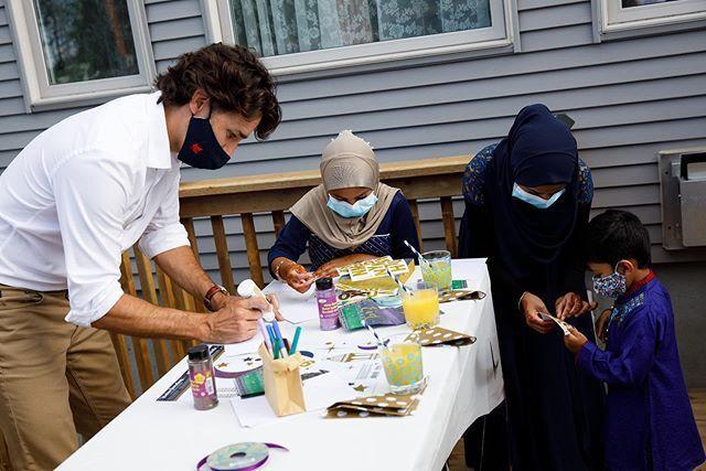 حضور جاستین ترودو در میان مسلمانان به مناسبت عید قربان