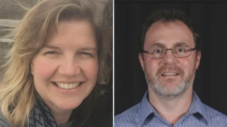 خانم Loretta Traynor در تیراندازی زخمی شد ولی شوهرش Chris Traynor (سمت راست) به قتل رسیده است