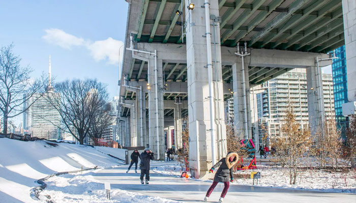 مسیر محبوب اسکیت تورنتو با محدودیتهای جدید بازگشایی شد