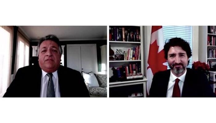 گفتگوی تلفنی جاستین ترودو با رئیس مُدرنا، مهاجر پیشین کانادا و فارغالتحصیل دانشگاه مکگیل