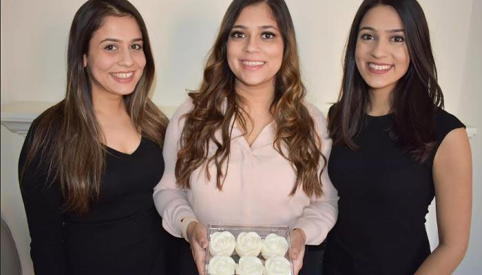 سه خواهر با هم در تورنتو شمعهائی به شکل گل رز میسازند و آنلاین میفروشند