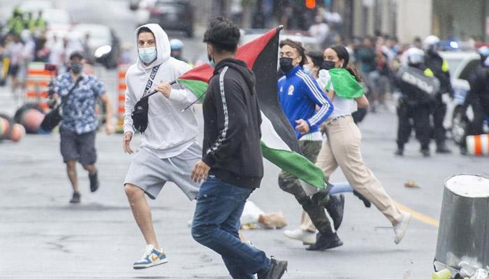 تظاهرات هزاران نفر در شهرهای کانادا به حمایت از فلسطینیها و صدها نفر در حمایت از اسرائیل