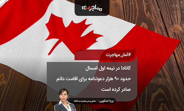 کانادا در نیمه اول امسال حدود ۹۰ هزار دعوتنامه برای اقامت دائم صادر کرده است